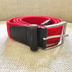 Men's SWISS GEAR Braided Belt Sz:36-40 Leather Tip